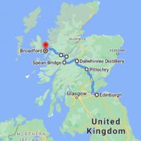 Edinburgh to Broadford, Isle of Skye IV49 9AE