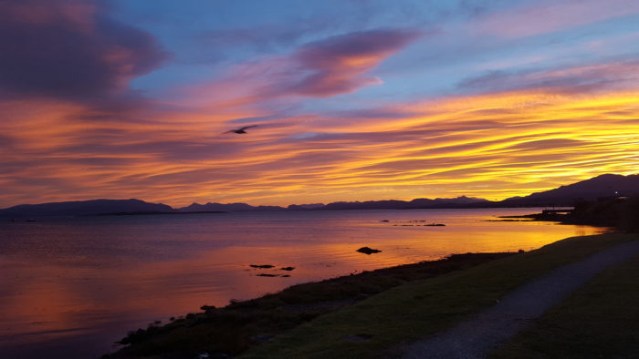 Sunrise over Broadford Bay from Basecamp